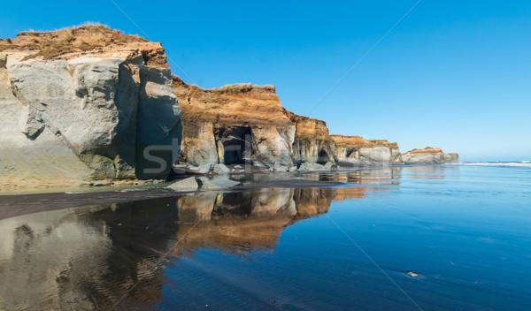 Reflectie strand getij water natuur Stockfoto © rghenry