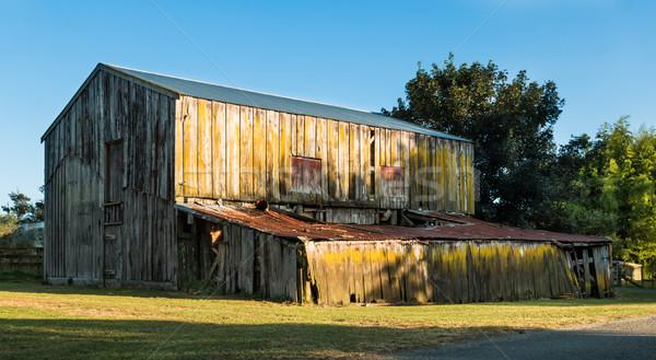 Oude boerderij een houten vintage schuur Stockfoto © rghenry