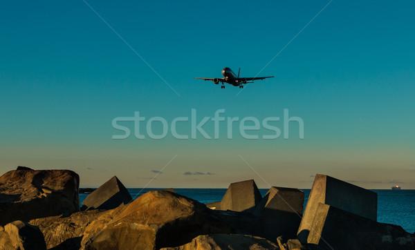 Airplane Rocks Stock photo © rghenry