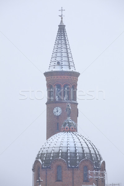 Church domes covered with snow. Stock photo © rglinsky77