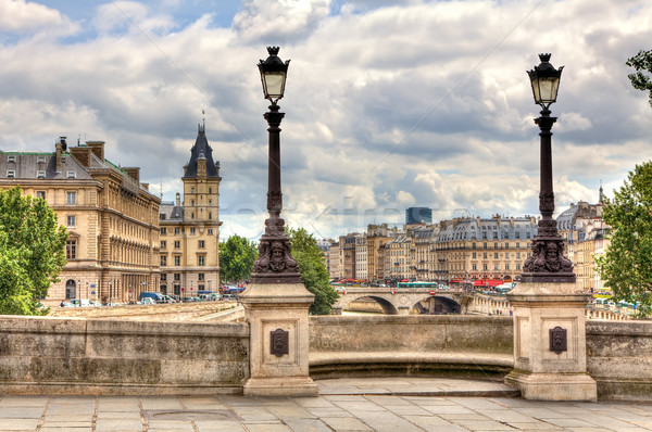 Paris cityscape. Pont Neuf. Stock photo © rglinsky77