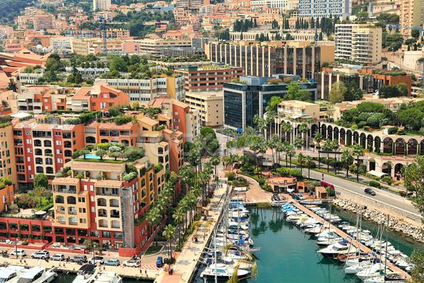 Modern binalar Monaco küçük marina tekneler Stok fotoğraf © rglinsky77