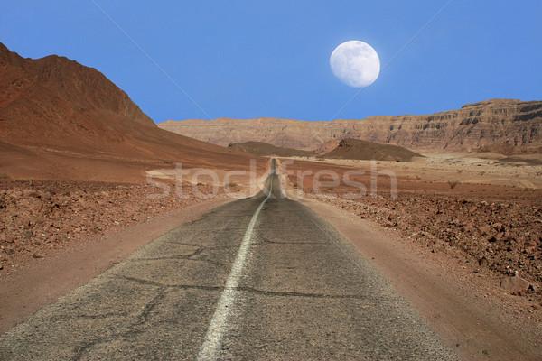 Stretta strada deserto Israele view esecuzione Foto d'archivio © rglinsky77