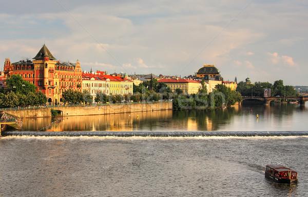 Eski Prag nehir su mimari Stok fotoğraf © rglinsky77