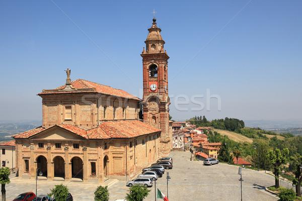 Kilátás templom Olaszország öreg kisváros északi Stock fotó © rglinsky77