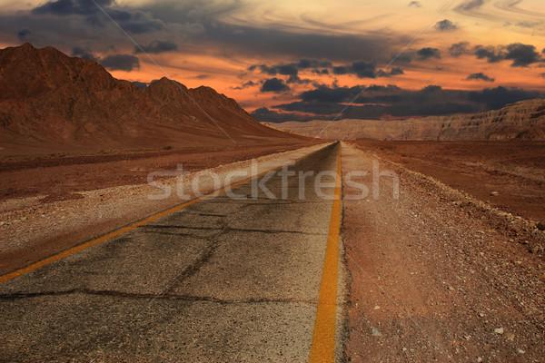 Sunset in desert. Stock photo © rglinsky77