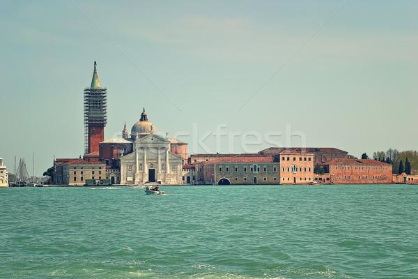 Kilise Venedik İtalya kanal su şehir Stok fotoğraf © rglinsky77