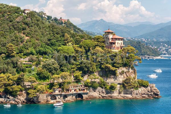 Italia bella casa panorama mare viaggio Foto d'archivio © rglinsky77