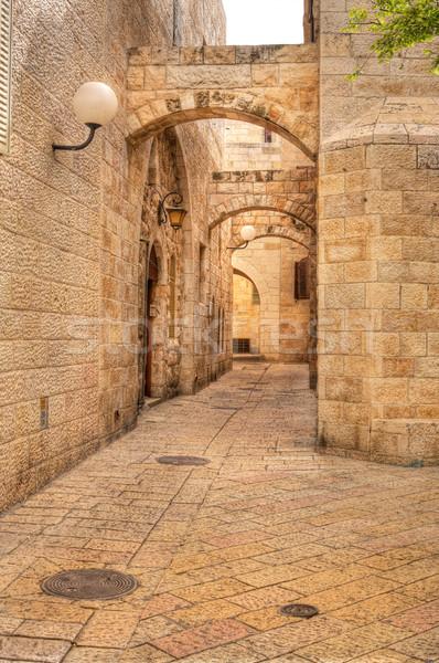 Old street in Jerusalem, Israel. Stock photo © rglinsky77