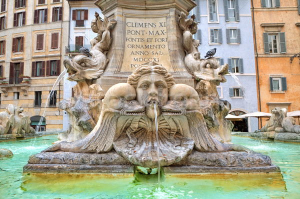Fountain of Pantheon. Rome, Italy. Stock photo © rglinsky77