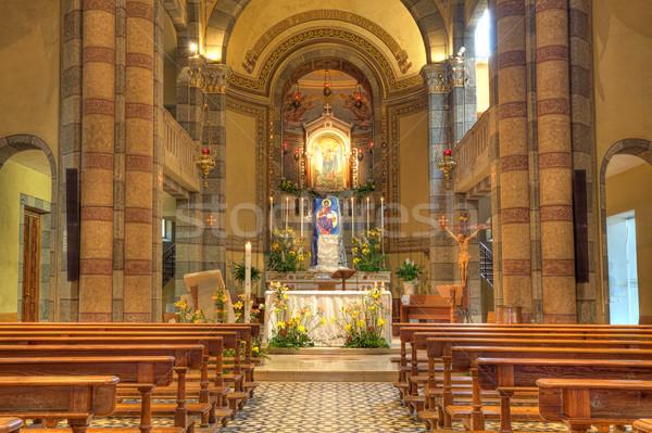 католический Церкви интерьер мнение Италия Сток-фото © rglinsky77