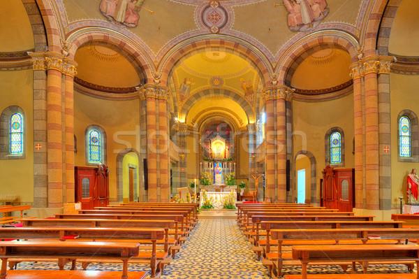 Katholiek kerk interieur Italië altaar Stockfoto © rglinsky77