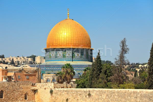 Kopuła rock meczet widoku złoty słynny Zdjęcia stock © rglinsky77