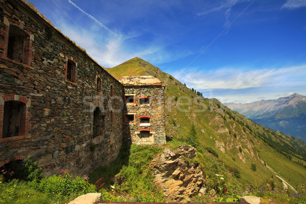 Old military fortification in Alps. Stock photo © rglinsky77