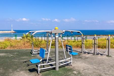 Public fitness equipment in Ahkelon, Israel. Stock photo © rglinsky77