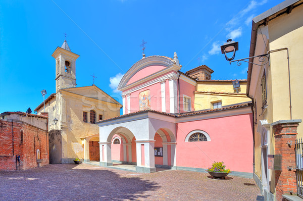 Two churches in town of barolo, Italy. Stock photo © rglinsky77