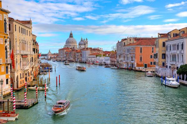 Grand canal and Santa Maria della Salute. Stock photo © rglinsky77