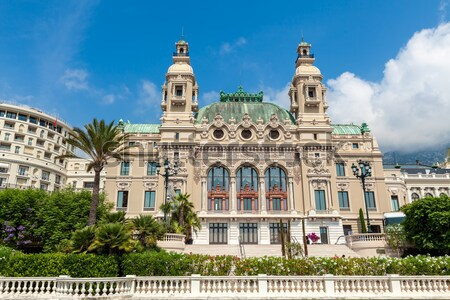 Garden and facade of Casino in Monte Carlo, Monaco. Stock photo © rglinsky77