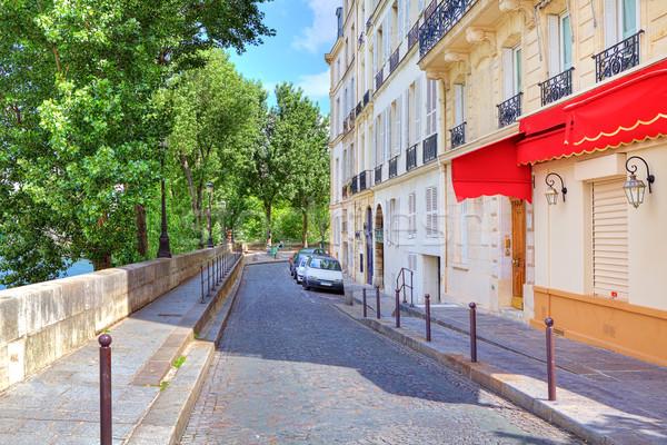 Narrow street in Paris, France. Stock photo © rglinsky77