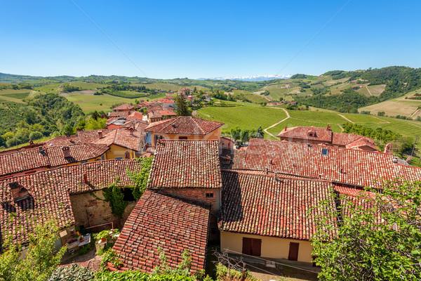 Rosso tetti verde colline Italia piastrelle Foto d'archivio © rglinsky77