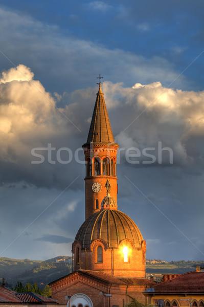 Церкви Италия вертикальный изображение католический закат Сток-фото © rglinsky77