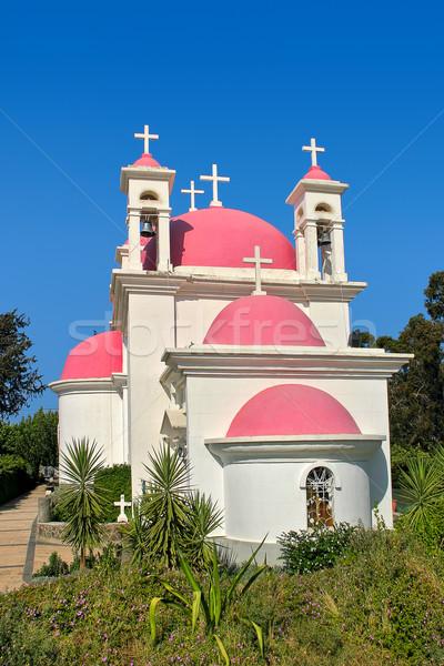 Görög ortodox templom Izrael függőleges kép Stock fotó © rglinsky77