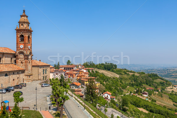 Church and hills of Piedmont, Italy. Stock photo © rglinsky77