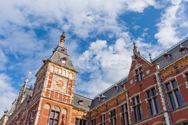 Fragment of cental train station in Amsterdam. Stock photo © rglinsky77