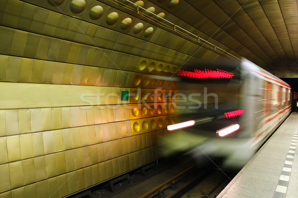 Metro in Prague. Stock photo © rglinsky77