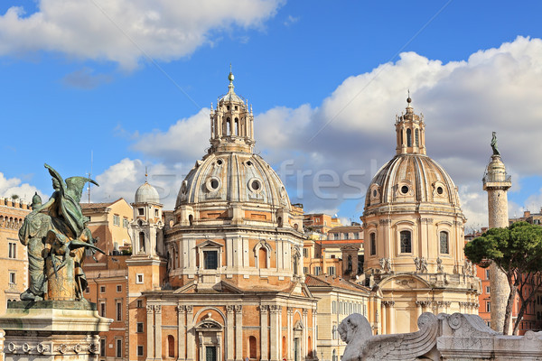 Santa Maria di Loreto church. Rome, Italy. Stock photo © rglinsky77