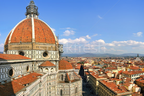 Duomo and view of Florence from above. Stock photo © rglinsky77