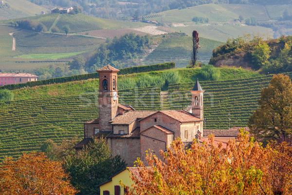 Eski kilise İtalya ortaçağ kuzey Stok fotoğraf © rglinsky77