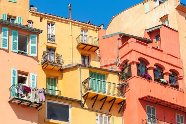 Renkli evler eski fransız Bina Stok fotoğraf © rglinsky77