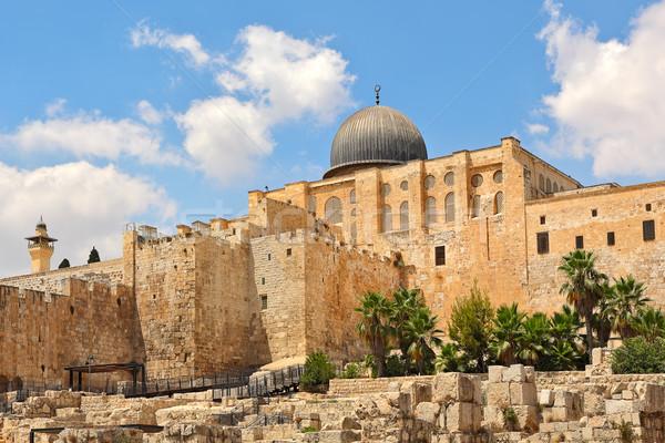 Cupola vecchio rovine Gerusalemme Israele moschea Foto d'archivio © rglinsky77