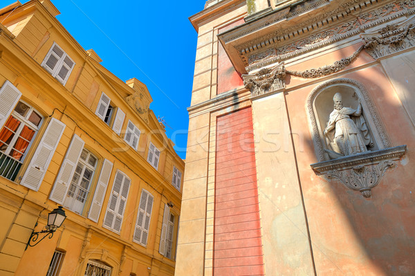 Architectural details in Menton, France. Stock photo © rglinsky77