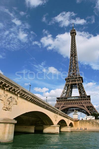 Torre Eiffel vertical foto ponte rio Foto stock © rglinsky77