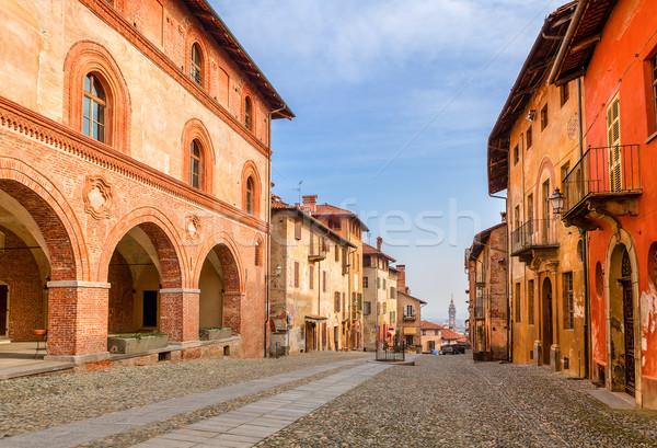 İtalya renkli evler sokak kuzey Stok fotoğraf © rglinsky77
