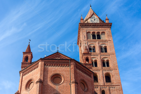 Katedral İtalya mavi gökyüzü gökyüzü şehir Stok fotoğraf © rglinsky77