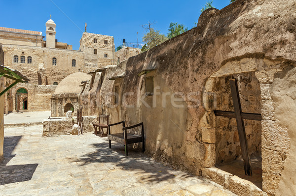 Ethiopian monastic cells in jerusalem, israel. Stock photo © rglinsky77