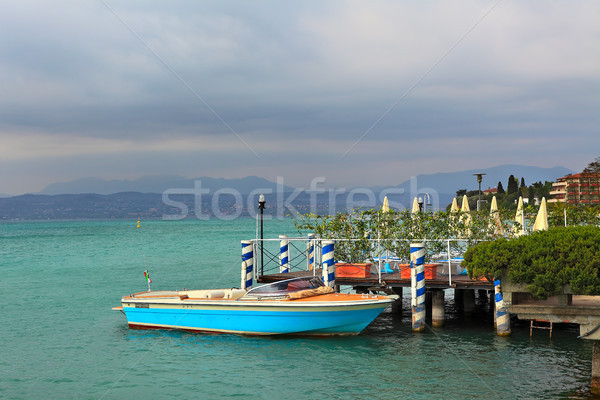 Boat moored on Lake Garda in Sirmione, Italy. Stock photo © rglinsky77