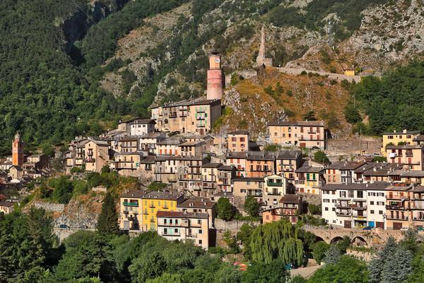 Ville France vue petite ville montagnes alpes Photo stock © rglinsky77
