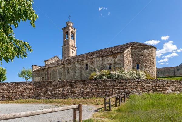 Stone parish church in Italy. Stock photo © rglinsky77