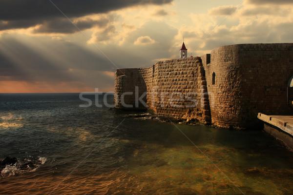 Eski duvarlar İsrail görmek akdeniz deniz Stok fotoğraf © rglinsky77