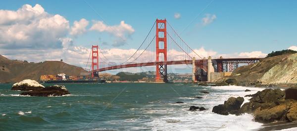 Golden Gate Bridge padeiro praia natureza rocha pedra Foto stock © rglinsky77