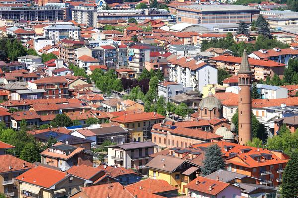 Aerial view on Alba, Italy. Stock photo © rglinsky77
