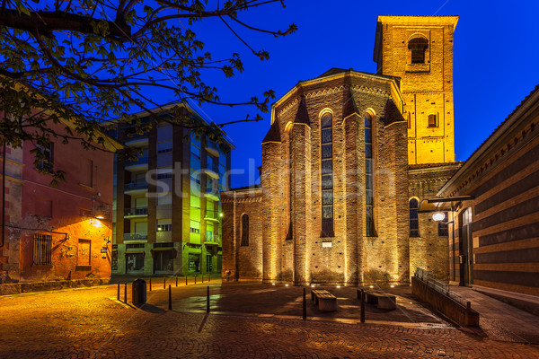 Photo stock: église · ville · carré · matin · façade