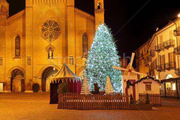 Albero di natale cattedrale Italia grande centrale Foto d'archivio © rglinsky77