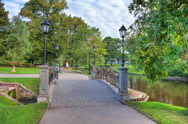 市 公園 リガ ラトビア 美しい 小 ストックフォト © rglinsky77