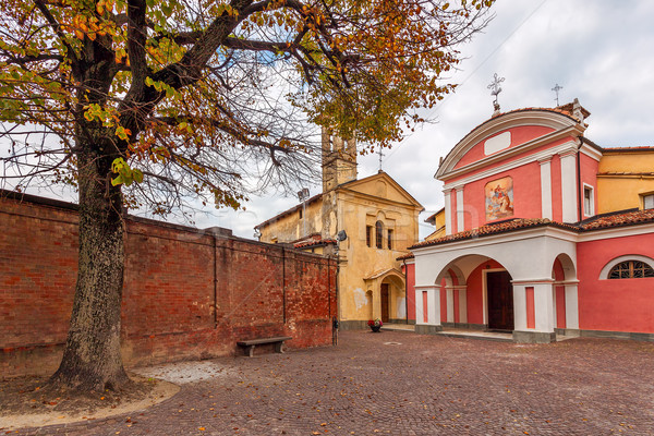 Two churches on small town sqyare. Stock photo © rglinsky77