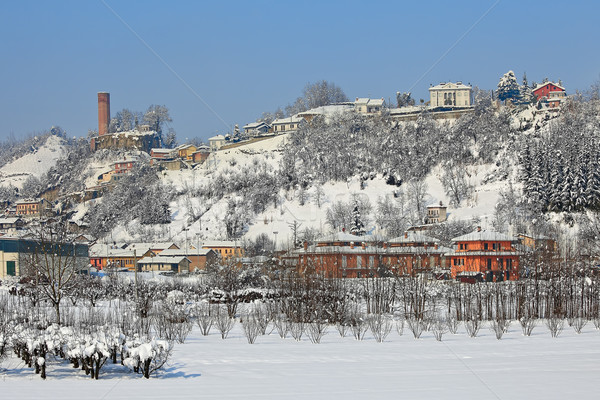 Small town covered with snow. Stock photo © rglinsky77